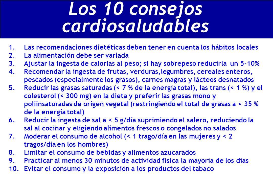 Los 10 consejos cardiosaludables