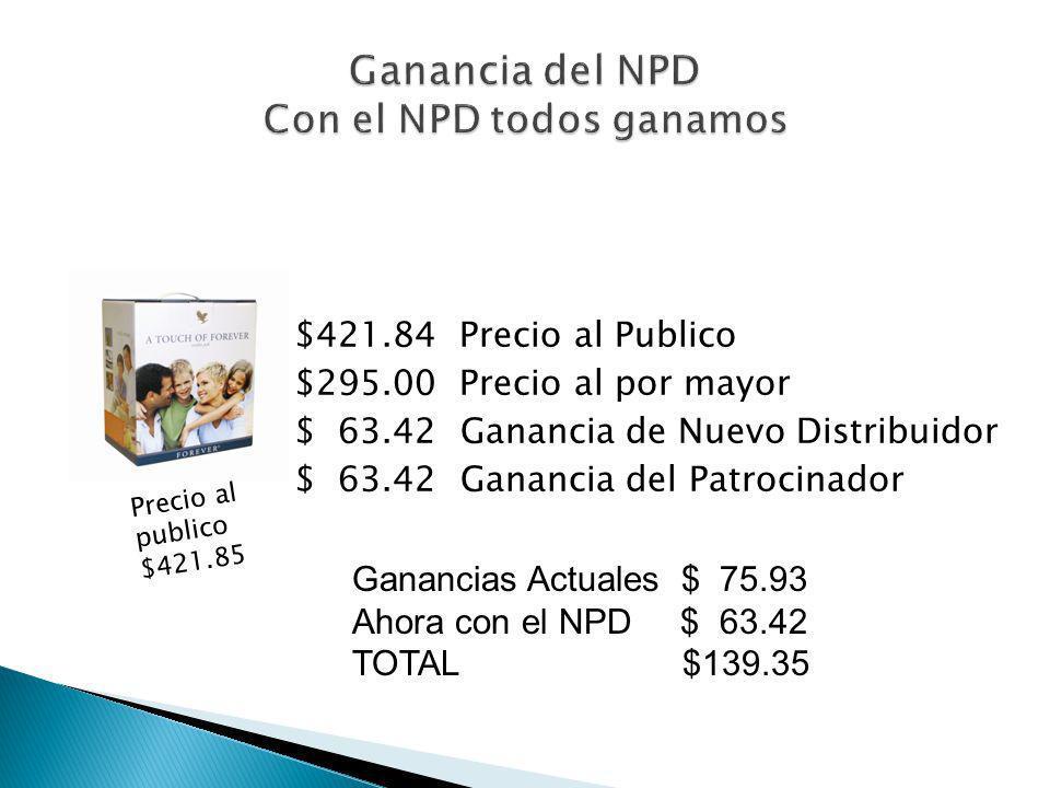 Ganancia del NPD Con el NPD todos ganamos