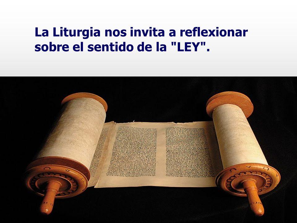La Liturgia nos invita a reflexionar sobre el sentido de la LEY .