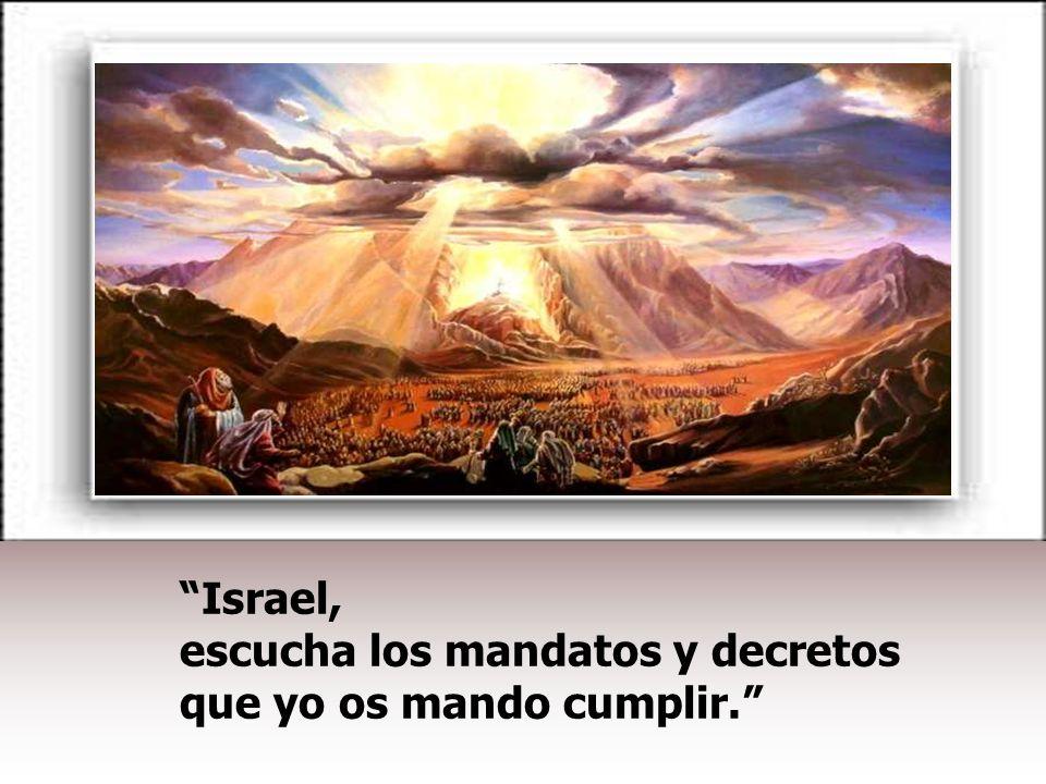 Israel, escucha los mandatos y decretos que yo os mando cumplir.