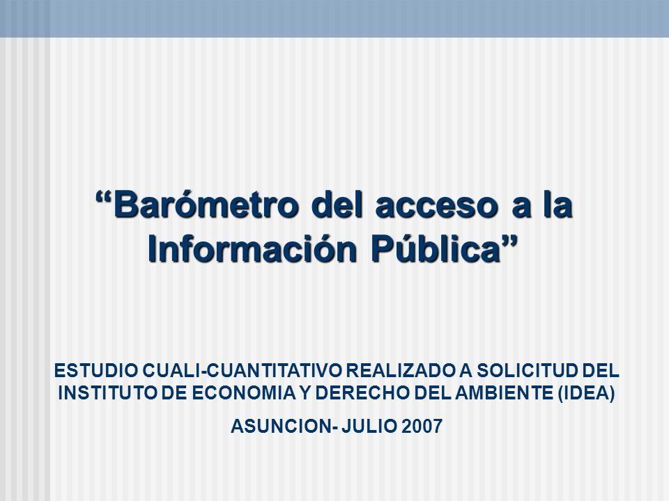 Barómetro del acceso a la Información Pública