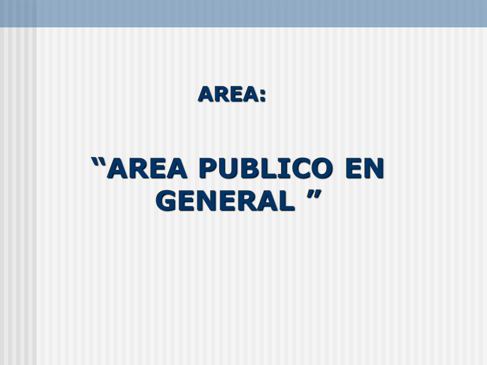 AREA PUBLICO EN GENERAL