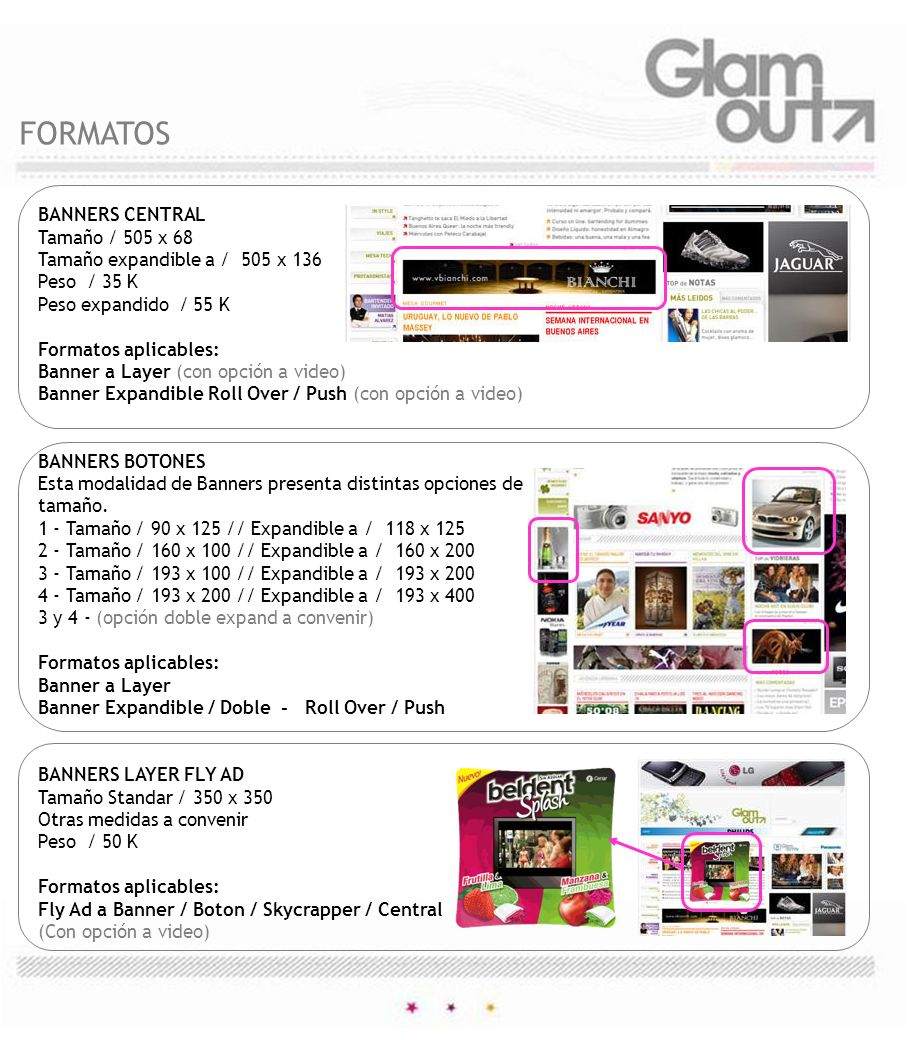 FORMATOS BANNERS CENTRAL Tamaño / 505 x 68