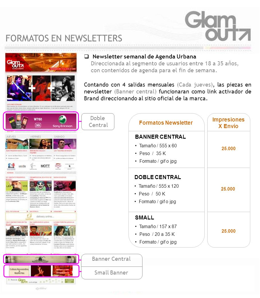FORMATOS EN NEWSLETTERS