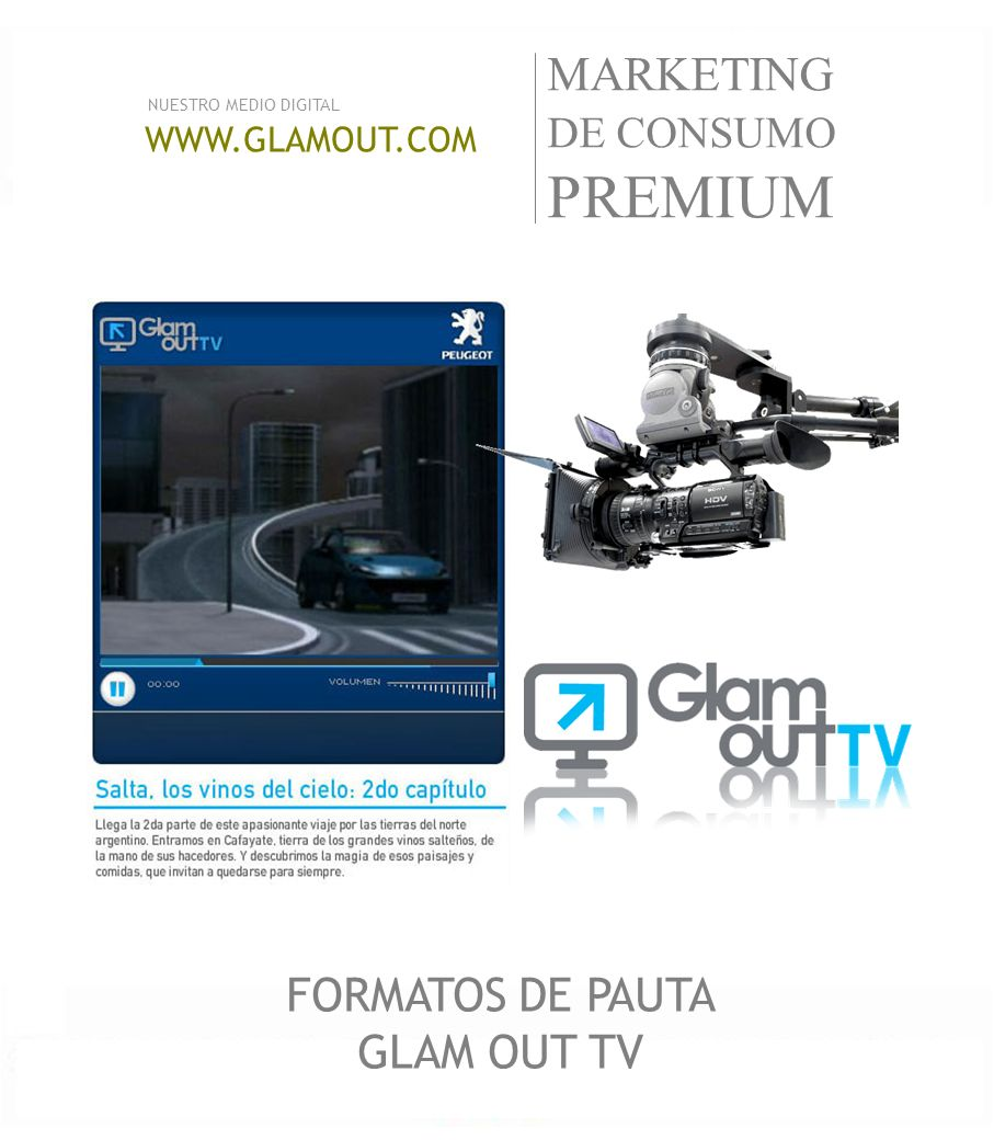 FORMATOS DE PAUTA GLAM OUT TV