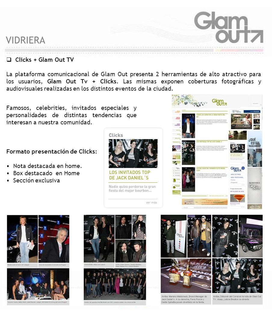 VIDRIERA Clicks + Glam Out TV