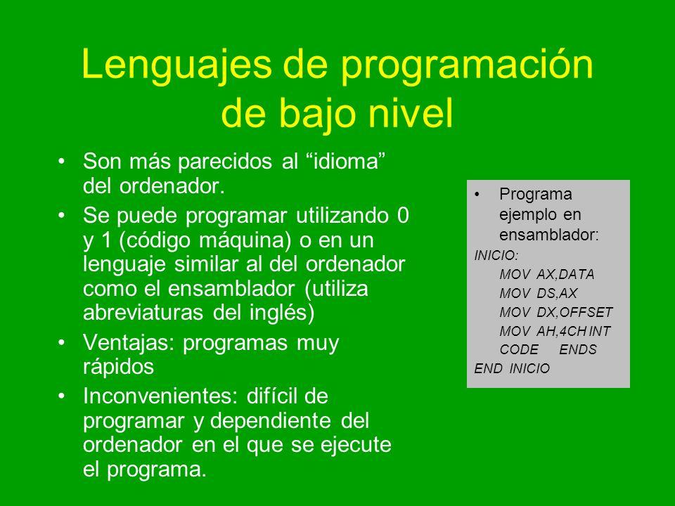 Lenguajes de programación de bajo nivel