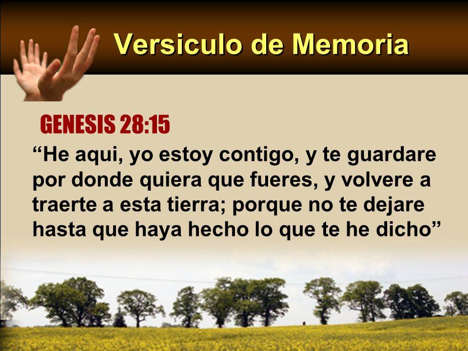Versiculo de Memoria GENESIS 28:15
