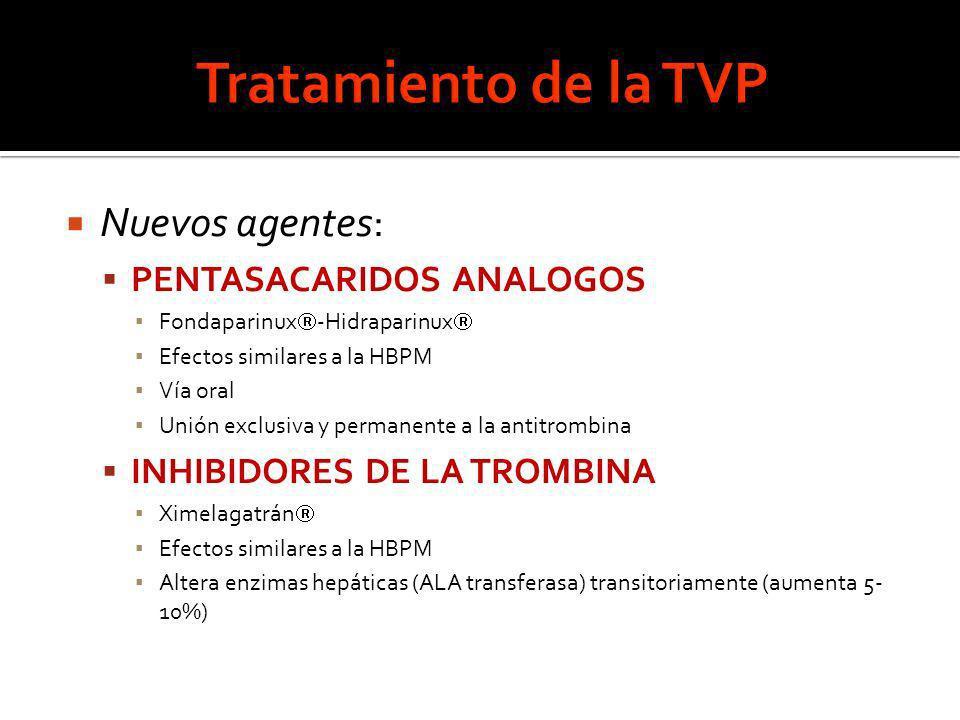 Tratamiento de la TVP Nuevos agentes: PENTASACARIDOS ANALOGOS