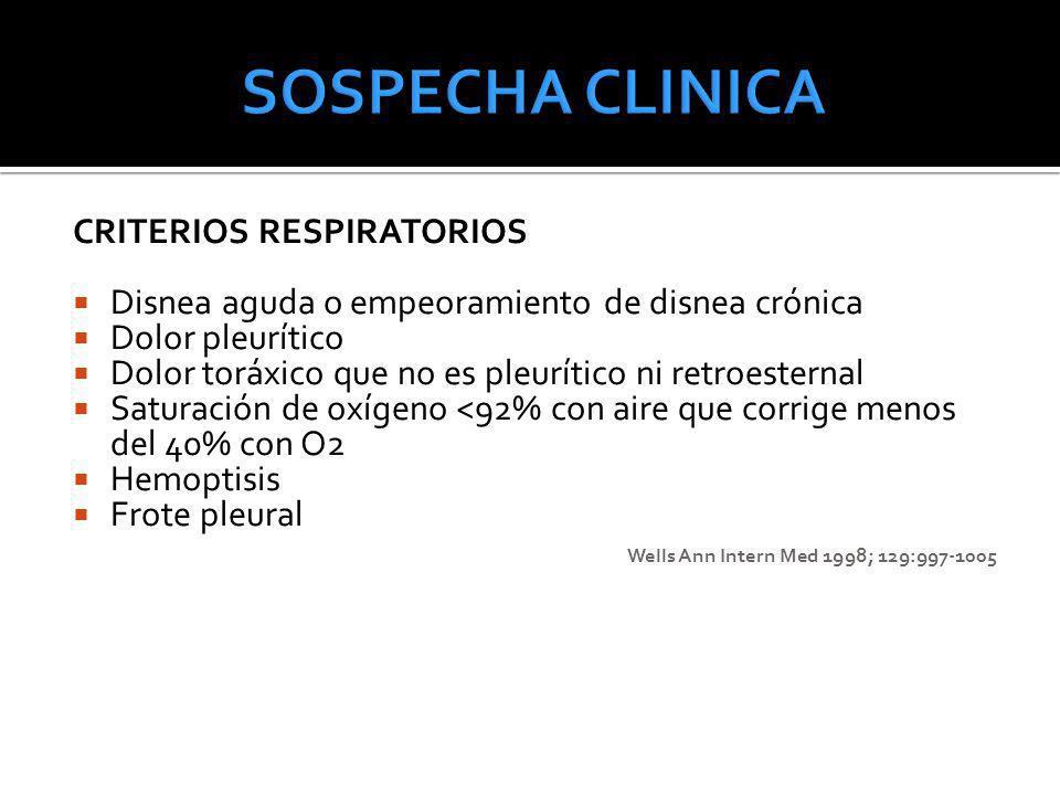 SOSPECHA CLINICA CRITERIOS RESPIRATORIOS