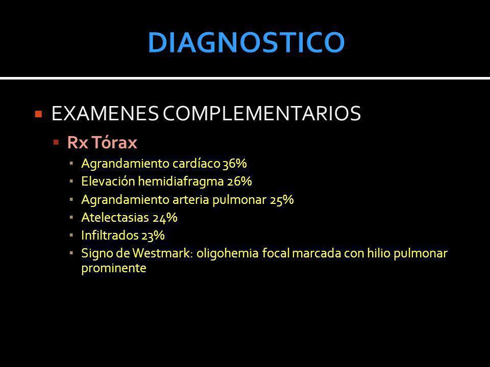 DIAGNOSTICO EXAMENES COMPLEMENTARIOS Rx Tórax
