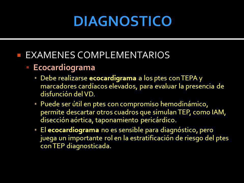 DIAGNOSTICO EXAMENES COMPLEMENTARIOS Ecocardiograma