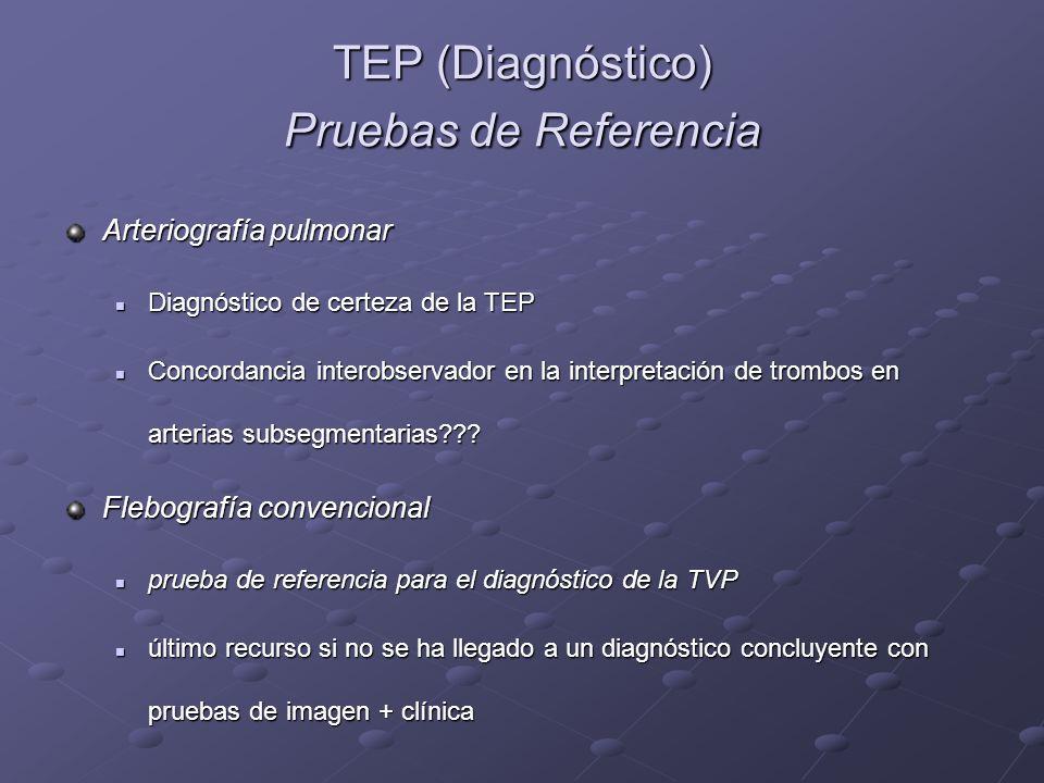 TEP (Diagnóstico) Pruebas de Referencia