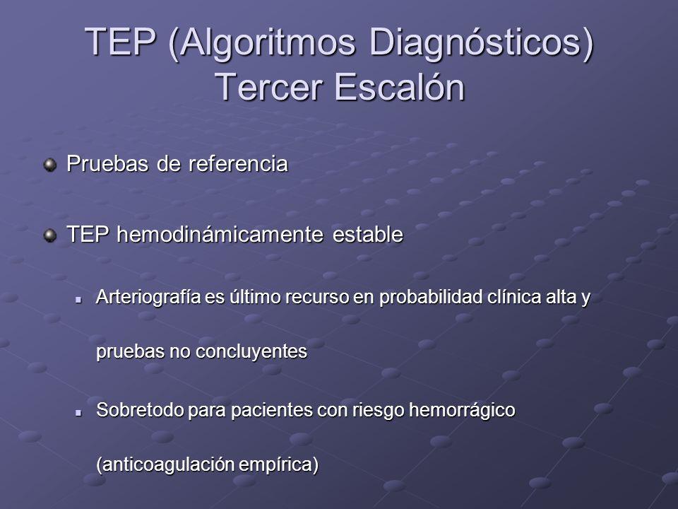 TEP (Algoritmos Diagnósticos) Tercer Escalón