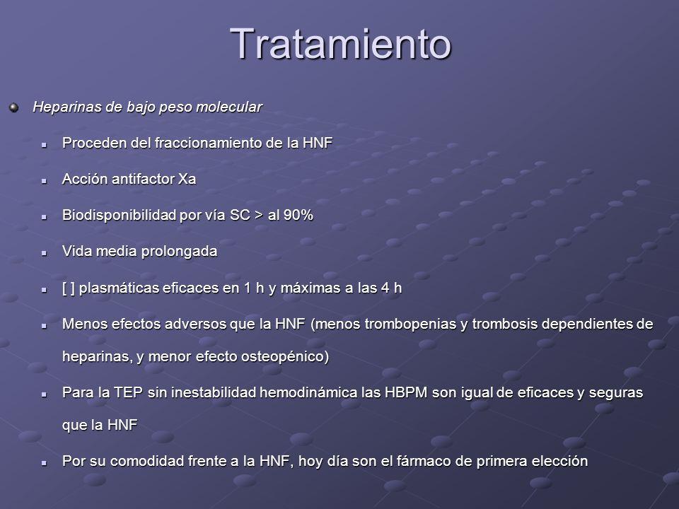Tratamiento Heparinas de bajo peso molecular