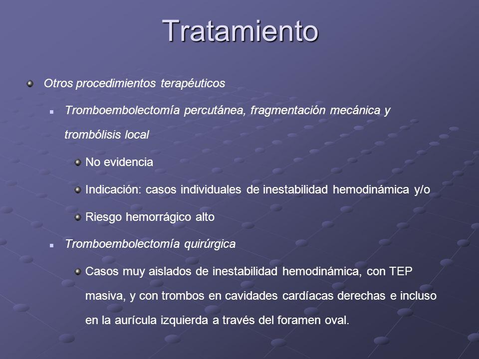 Tratamiento Otros procedimientos terapéuticos