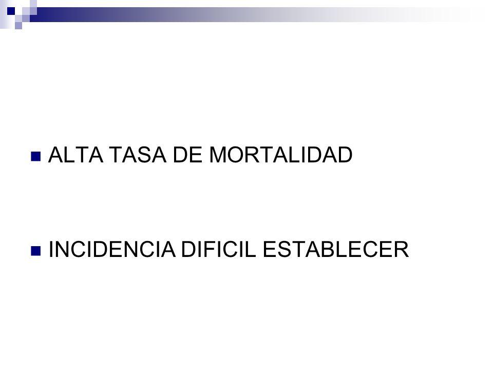 ALTA TASA DE MORTALIDAD