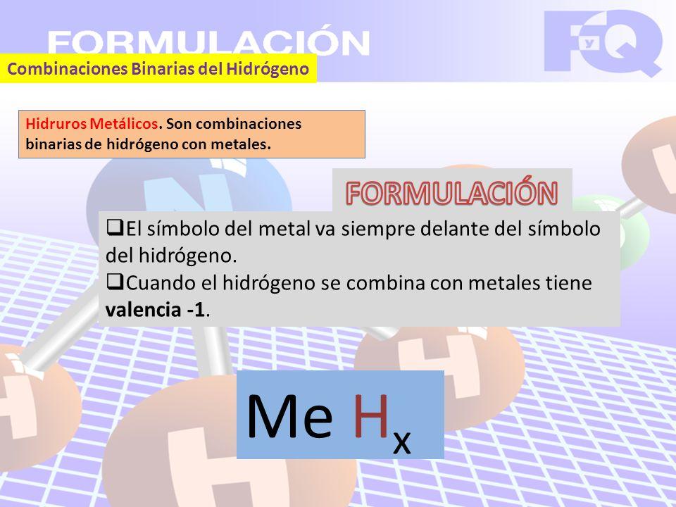 Combinaciones Binarias del Hidrógeno