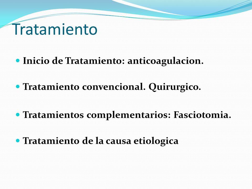 Tratamiento Inicio de Tratamiento: anticoagulacion.