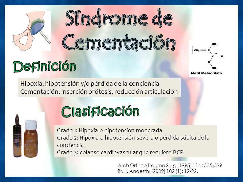 Síndrome de Cementación