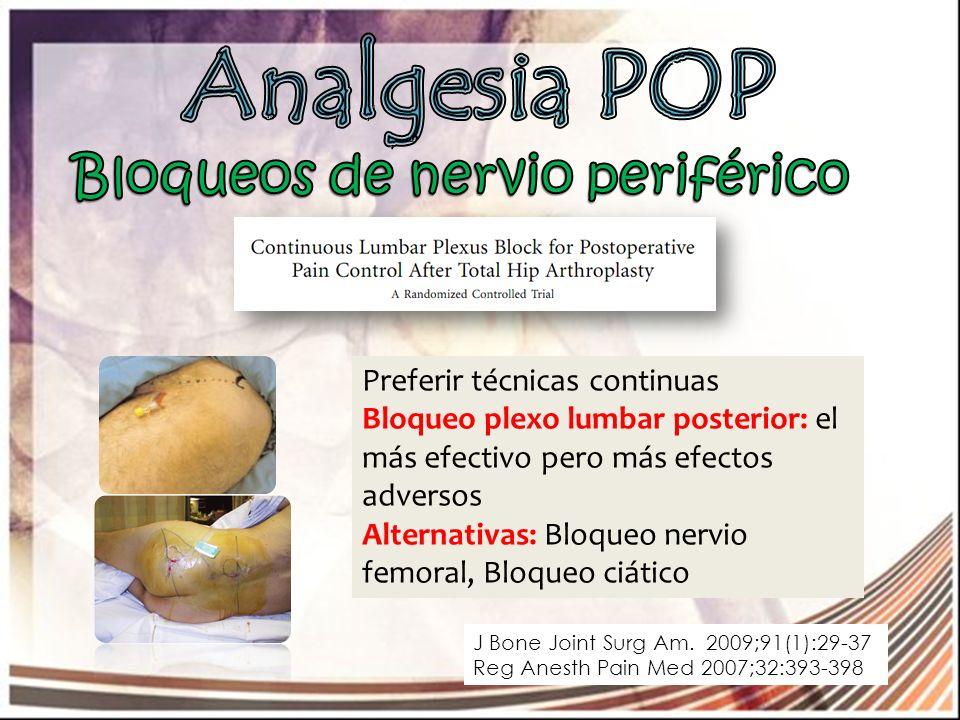 Analgesia POP Bloqueos de nervio periférico