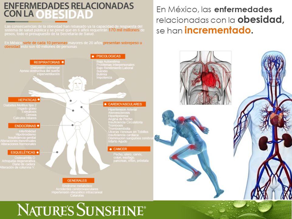 En México, las enfermedades relacionadas con la obesidad, se han incrementado.