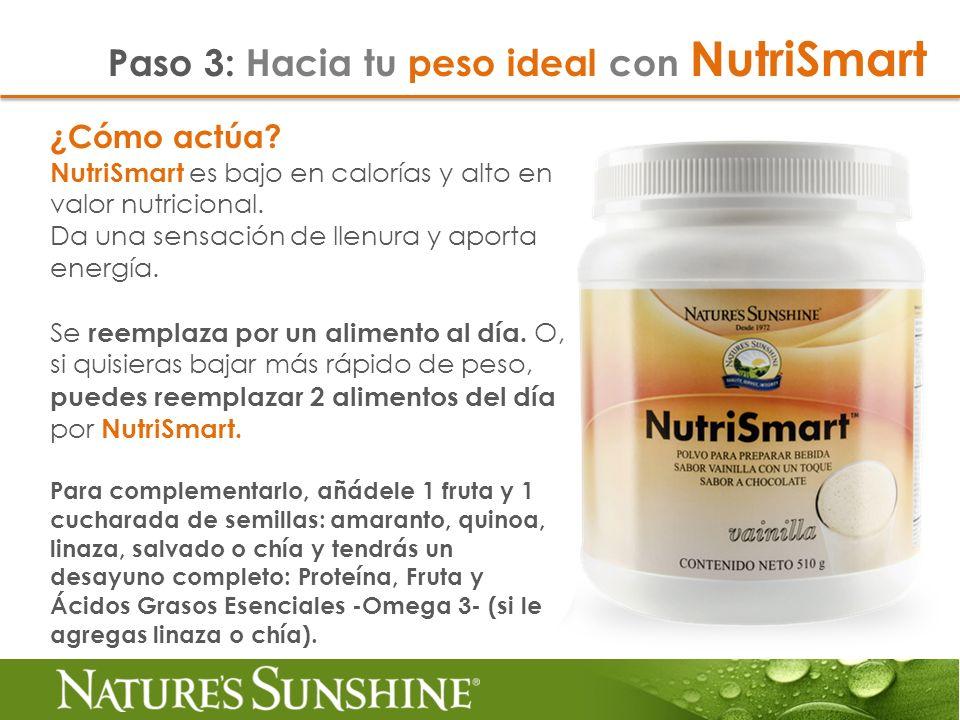 Paso 3: Hacia tu peso ideal con NutriSmart