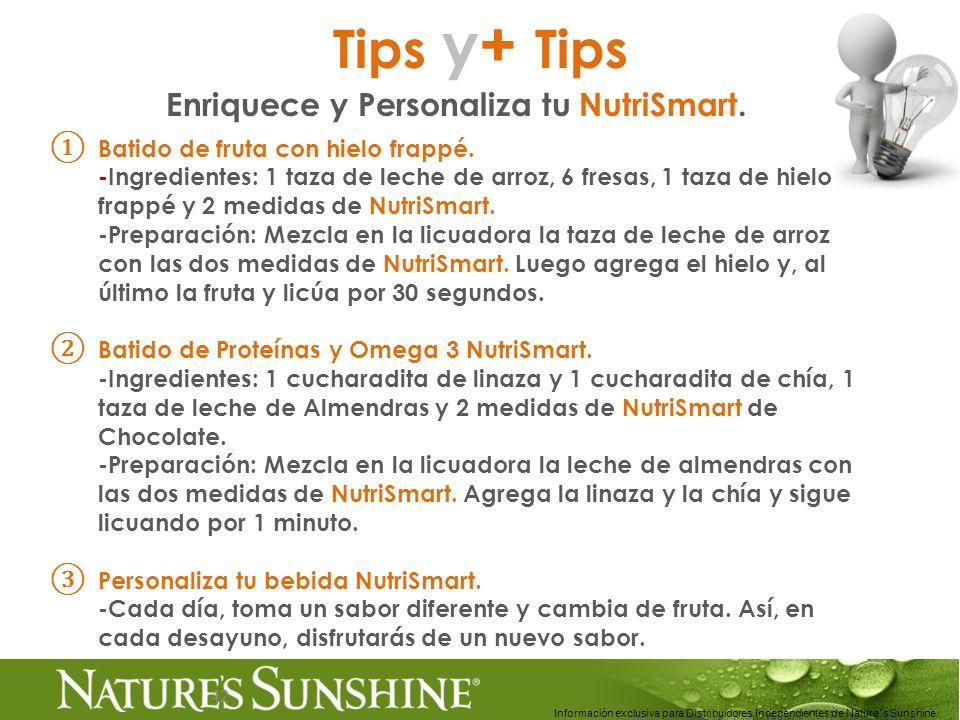 Enriquece y Personaliza tu NutriSmart.