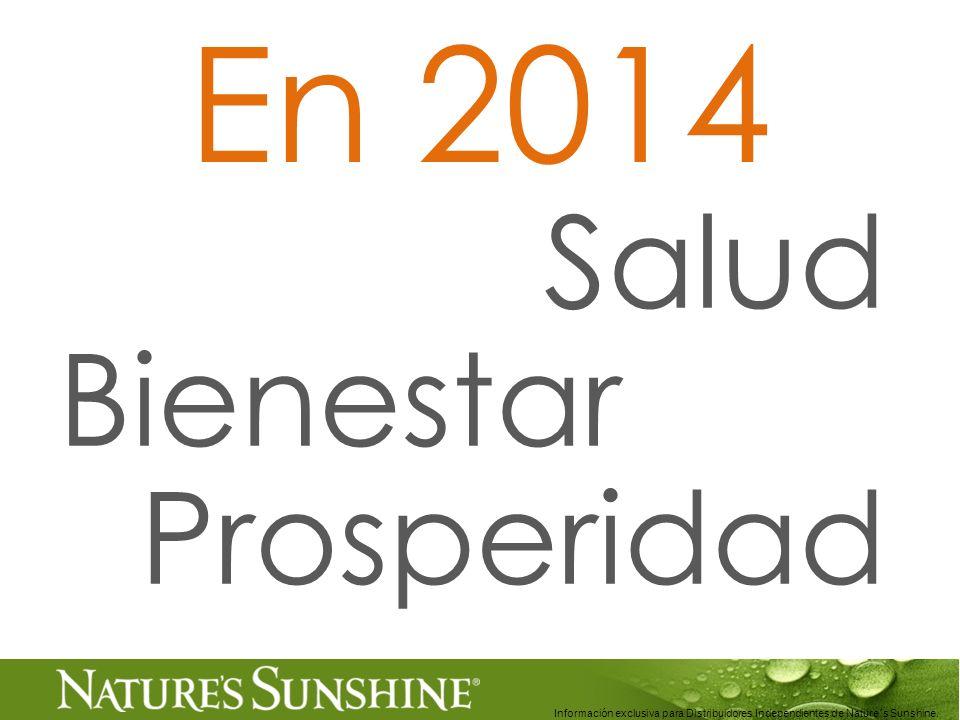 En 2014 Salud Bienestar Prosperidad