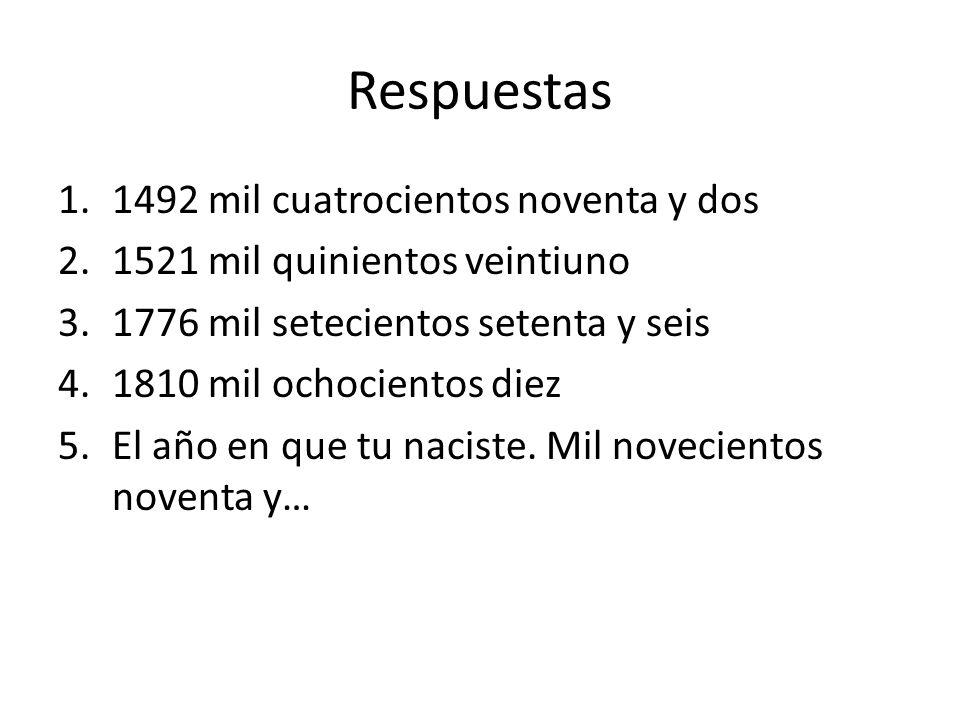 Respuestas 1492 mil cuatrocientos noventa y dos