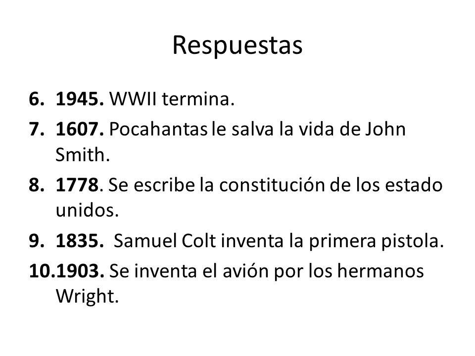 Respuestas 1945. WWII termina.