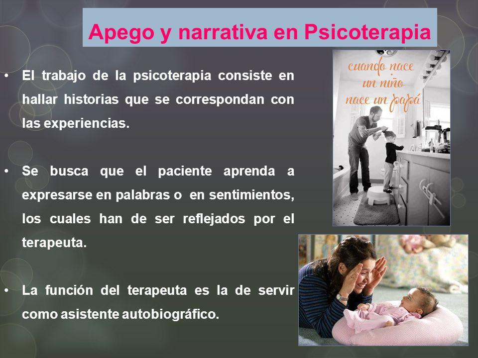 Apego y narrativa en Psicoterapia