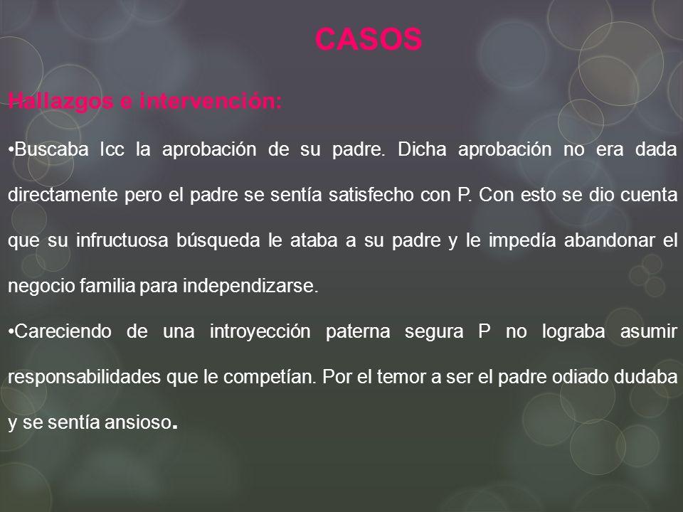 CASOS Hallazgos e intervención: