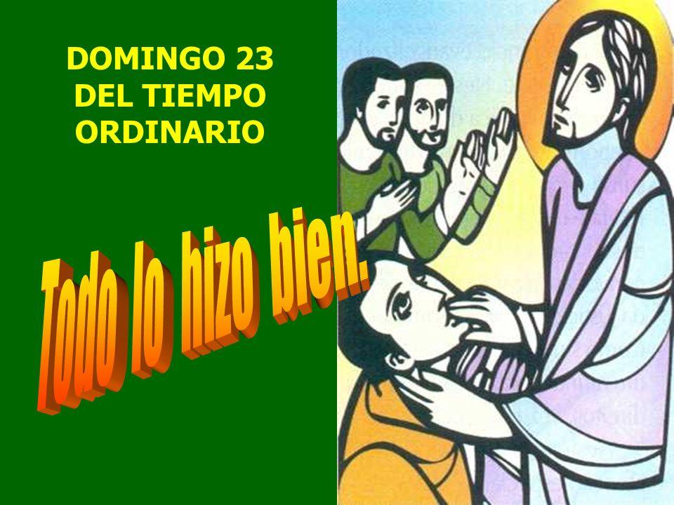 DOMINGO 23 DEL TIEMPO ORDINARIO