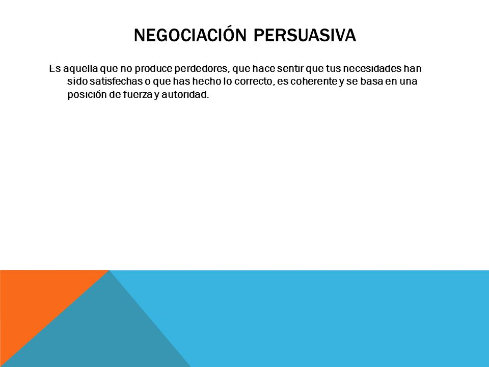 Negociación persuasiva