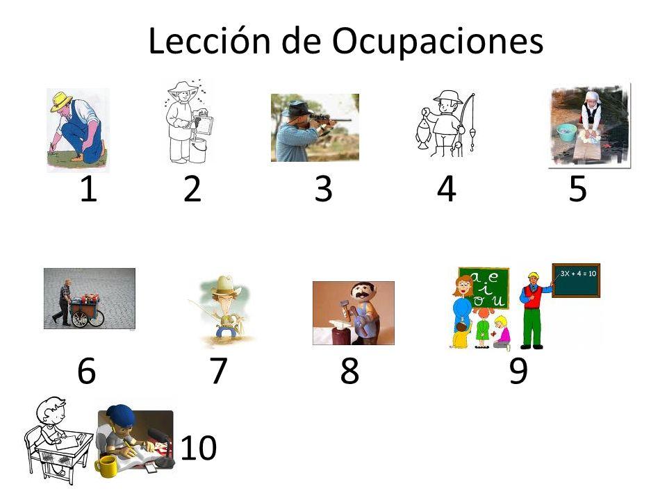Lección de Ocupaciones