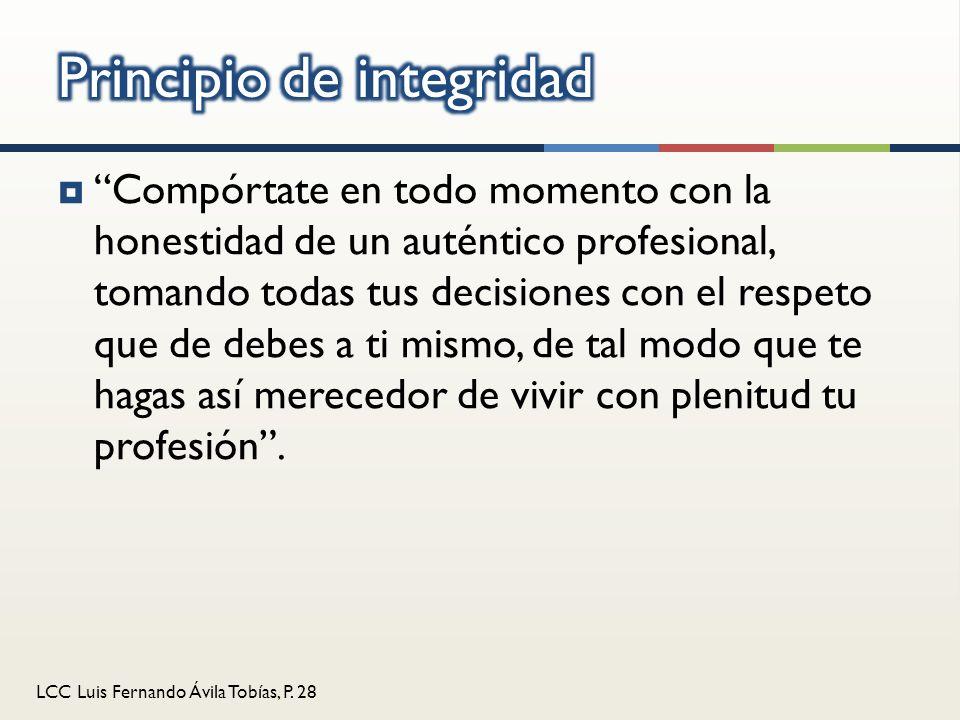 Principio de integridad