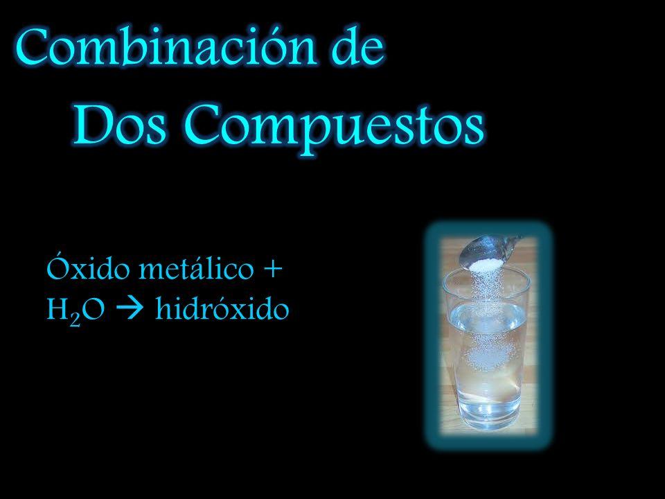 Combinación de Dos Compuestos Óxido metálico + H2O  hidróxido