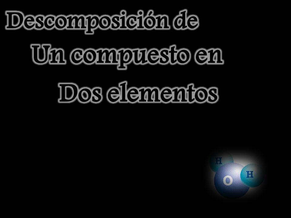 Descomposición de Un compuesto en Dos elementos