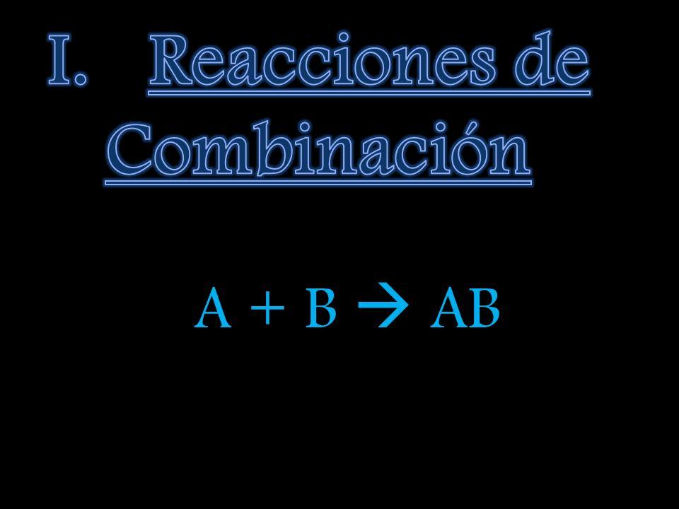 Reacciones de Combinación
