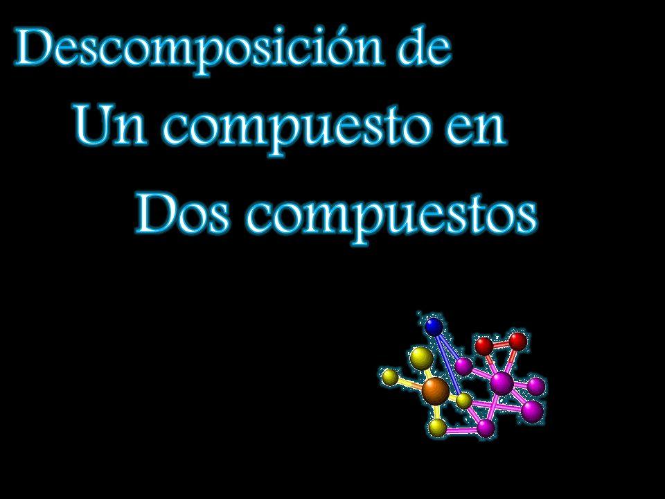 Descomposición de Un compuesto en Dos compuestos