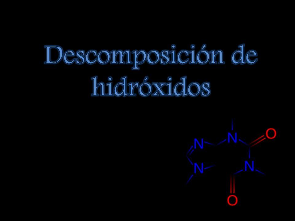 Descomposición de hidróxidos