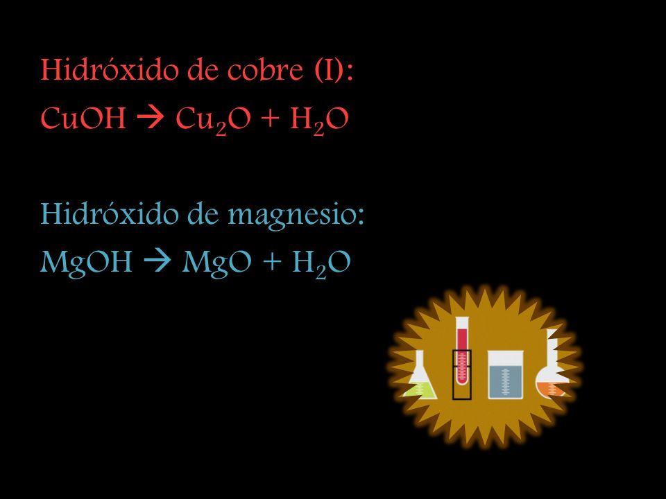 Hidróxido de cobre (I):