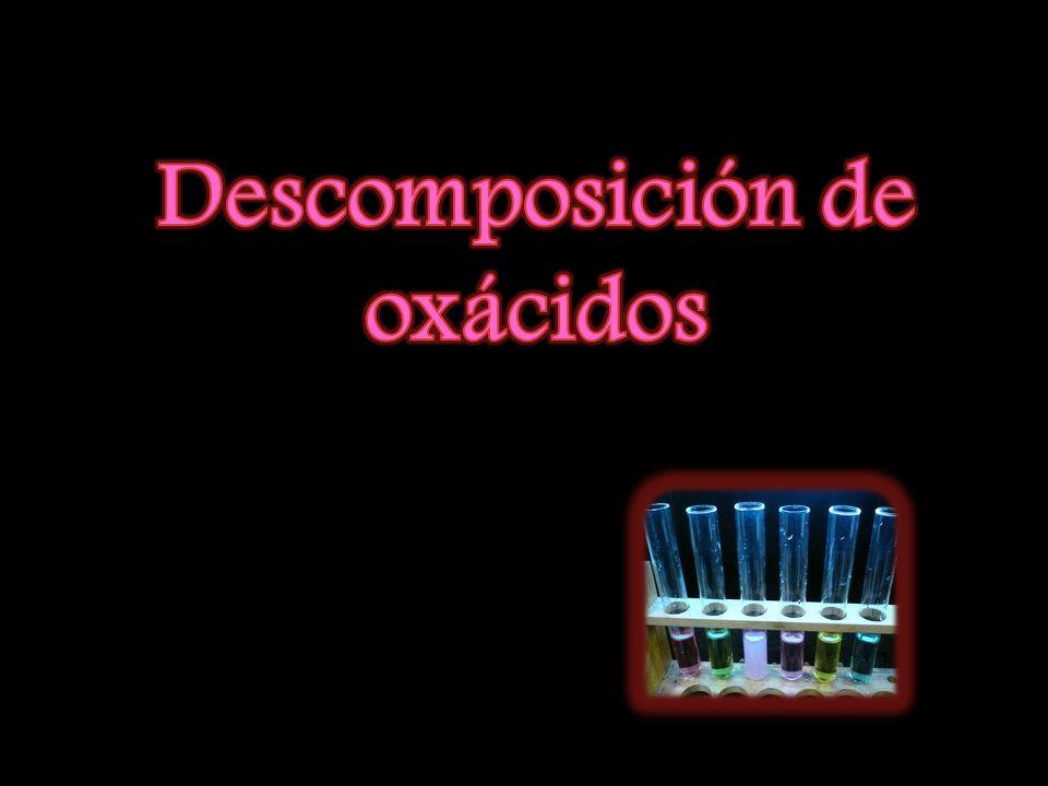 Descomposición de oxácidos