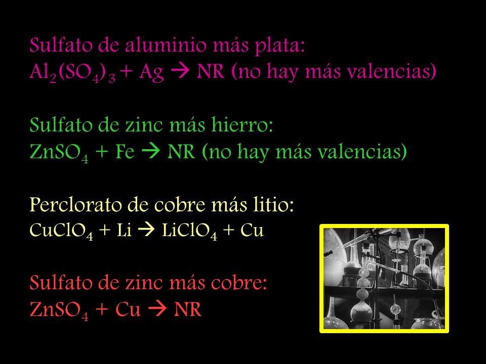 Sulfato de aluminio más plata: