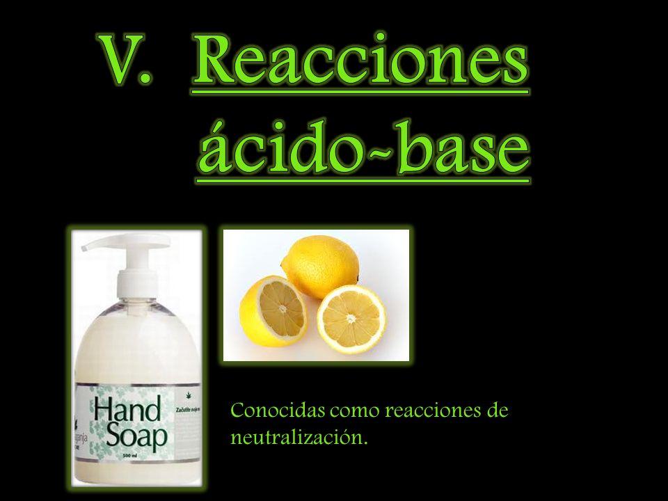 V. Reacciones ácido-base