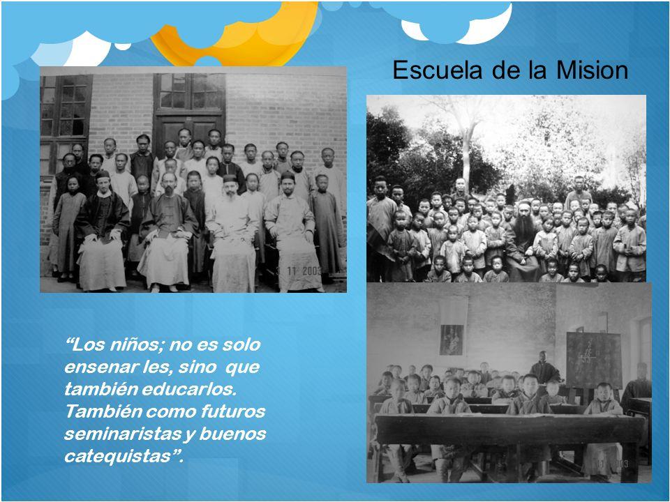 Escuela de la Mision Los niños; no es solo ensenar les, sino que también educarlos.