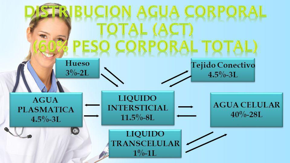 DISTRIBUCION AGUA CORPORAL TOTAL (ACT) (60% peso corporal total)