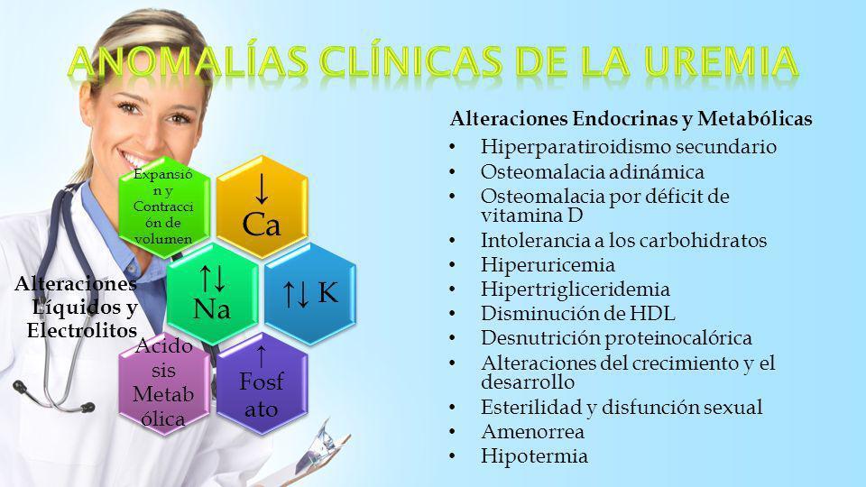 Anomalías clínicas de la uremia