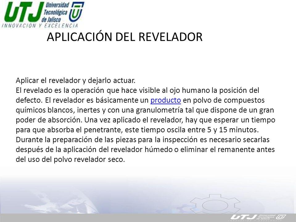 APLICACIÓN DEL REVELADOR